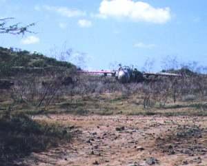 Zona donde la Marina practicaba bombardeos en Vieques